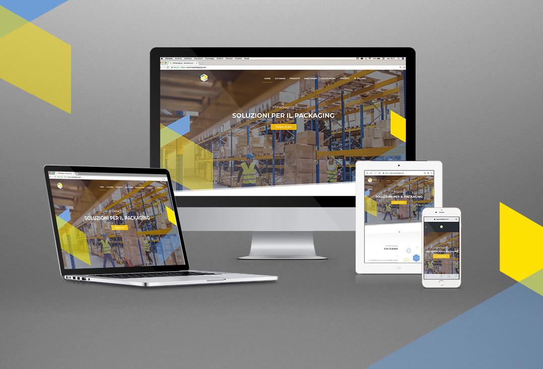 VSP Packaging website, branding